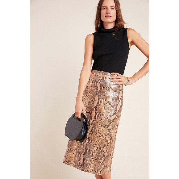 Anthropologie Dresses & Skirts - Anthropologie Orly Snake-Printed Pencil Skirt